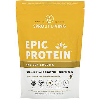 Sprout Living, Epic Protein, Organic Plant Protein + Superfoods, Vanilla Lucuma,