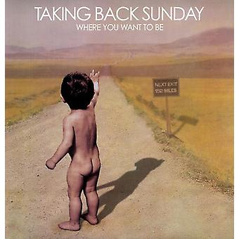 Taking Back Sunday - Where You Want to Be [Vinyl] USA import