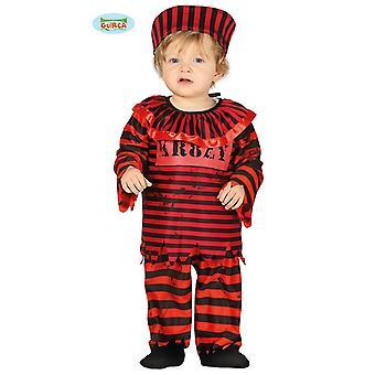 Guirca condenado de prisioneiro de palhaço - palhaço Halloween traje bebê criança