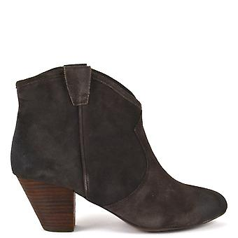 Ash Footwear Jalouse Suede Ankle Boots Woodash