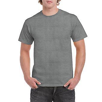Gildan G5000 Plain Heavy Cotton T Shirt en Graphite Heather