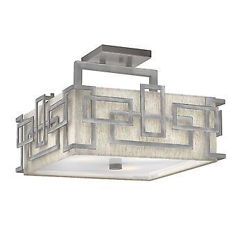 Elstead Lanza - 3 Licht Semi Flush Mount Decke Licht Nickel, E27