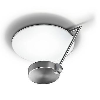 1 lumière grand semi Flush plafonnier satin nickel