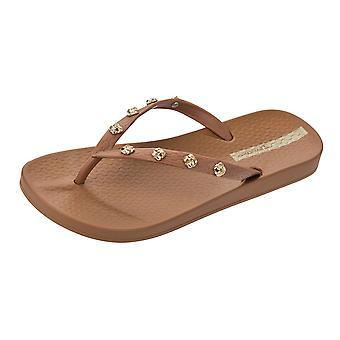 Ipanema Premium noeud d'amour Womens Tongs / sandales - Tan