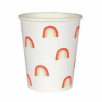Meri Meri Neon regenboog cups x 12 Partyware