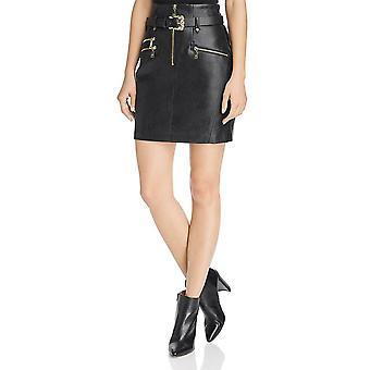Guess | High Waisted Jenny Moto Skirt