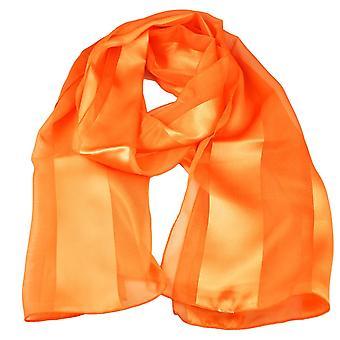 Ties Planet Plain Bright Orange Self Stripe Satin Scarf