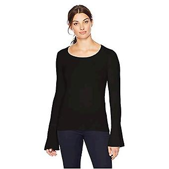 Brand - Lark & Ro Women's Sweaters  Crewneck Cashmere Sweater with Flu...