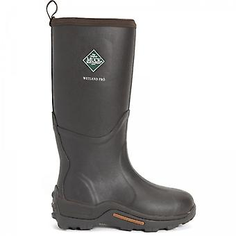 Muck Boots Wetland Pro Tall Mens Rubber Wellington Boots Brown