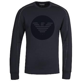 Emporio Armani Circle Eagle Logo Navy Sweatshirt