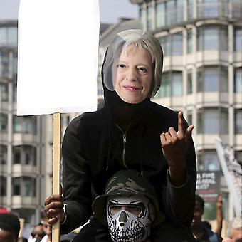 Máscara-arade Theresa May Máscara de fiesta