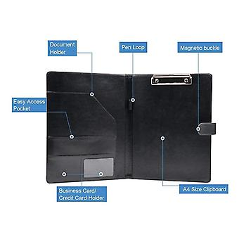 A4/ A5 Imitation Leather Plan Multifunctional Folder For Meeting Minutes,