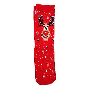 Sukat joulu punainen STL 30-36 2-pakkaus