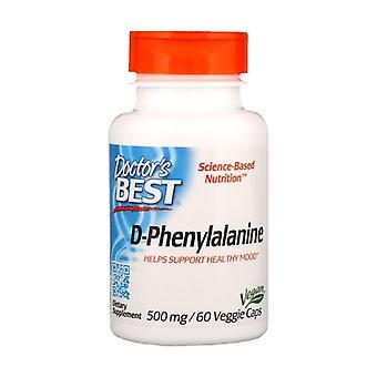 D-Phenylalanine, 500mg 60 vegetable capsules