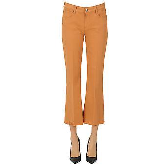 Atelier Cigala's Ezgl457025 Damen's Orange Cotton Jeans