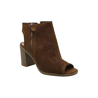 أمريكا خرقة النساء Chasity الجلود فتح أحذية أزياء الكاحل