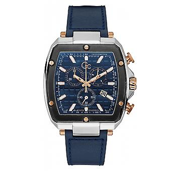 GC Y83001G7MF Spirit Tonneau Chronograph Flexistrap Blue Wristwatch