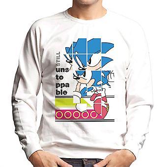 ソニック・ザ・ヘッジホッグ・ランディングまだ止められないメン&アポス;sスウェットシャツ