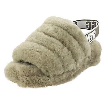 UGG Fluff Yeah Slide Womens Slippers Sandals in Burnt Olive