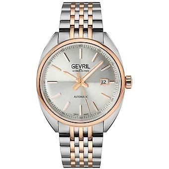 Gevril Men's Five Points Silver Dial Two Tone watch