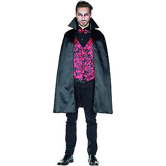 Vampire Men's Costume Cloak Count Dracula Cape z kamizelką