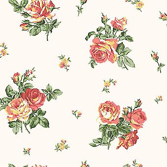 ENGLISH FLORALS ROSES WALLPAPER RED GALERIE