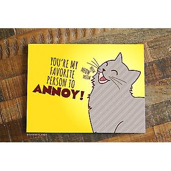 Cat I Love You Card Favorite To Annoy