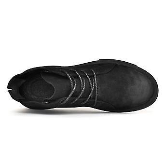 Men Cizme de iarnă din piele Casual Pantofi Cald Zăpadă Masculin cauciuc Glezna