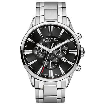 Roamer 508837 41 55 50 Black Dial Superior Chronograph Wristwatch