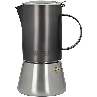 La Cafetire Edited Induction-Safe Stainless Steel Stovetop Espresso Maker, 200 ml (4 Cup)