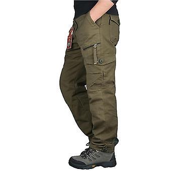 Ανδρικά παντελόνια φορτίου, πολλαπλές τσέπες, στρατιωτική τακτικής άνδρες Outwear, Streetwear Στρατός