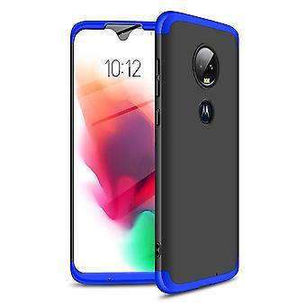 360 degree full body case for Motorola Moto G7 - black/blue