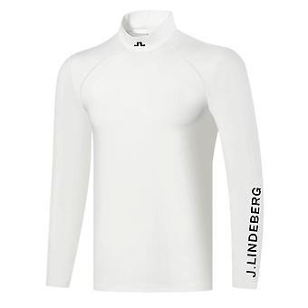 Primavera Autunno Nuova t-shirt da golf a manica lunga, abbigliamento uomo
