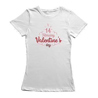 Happy Valentine's Day Ribbon Typography T-Shirt By Shutterstock