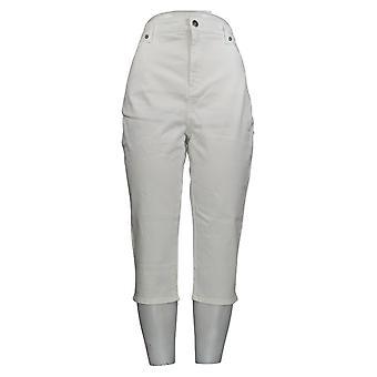 NYDJ Women's Jeans Premium Stretch Slim Leg Pull-On White A350846
