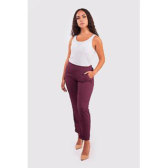 Sabah women's high waist tailored trousers in prune