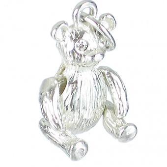 Bamse Sterling Sølv Charm Med bevægelige arme - Ben 0,925 X 1 Charms
