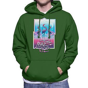 Miami Vice 3 Flamingos Men's Hooded Sweatshirt