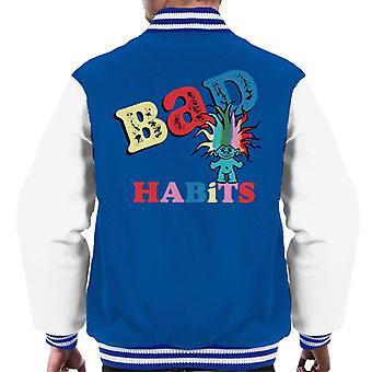 Trolls Bad Habits Multicolour Men's Varsity Jacket