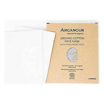 Facial Mask Organic Cotton Arganour Hyaluronic Acid