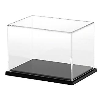 40x20x20cm Acrylic Display Case, Black Gloss Base Dustproof Assembled Box