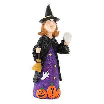 Halloween-koristeet DKD Home Decor Resin Witch (11 x 11 x 25 cm)