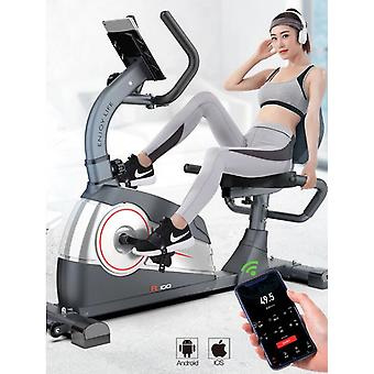Horizontal Exercise Bike, Magnetic Control Spinning Bicycle