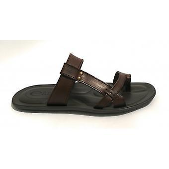Men's Shoes Elite Slipper A Bands Leather Cow Color Moro Head Us18el13