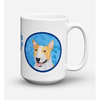 Caroline's Treasures SS4772-BU-CM15 Bull Terrier Microwavable Ceramic Coffee Mug, 15 oz, Multicolor