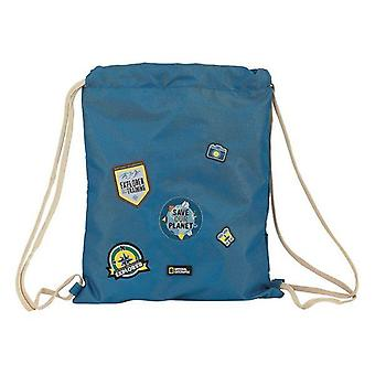 Backpack with strings national geographic blue brown