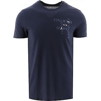 Armani Exchange Navy Regular Fit T-paita
