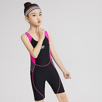 Uimapuku urheilu lasten liivi-tyylinen haalari iso tyttö aloittelija koulutus racing konservatiivinen