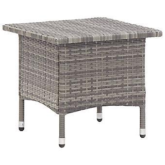 vidaXL Tea Table Grey 50 x 50 x 47 cm Poly Rattan