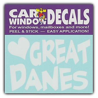 "Decal، نافذة الشارات، وأنا أحب الدنماركيين العظمى، 4.5 ""واسعة"